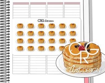 Pancake Stickers | Planner Erin Condren Plum Planner Filofax Sticker