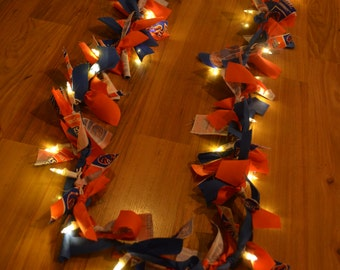 Lighted Boise State Rag Garland