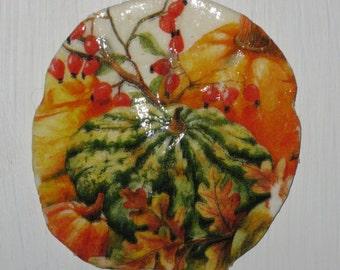 Gourds & Pumpkins Sand Dollar Ornament
