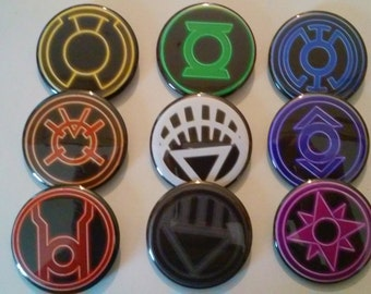 Lantern Corps (Set of 9 buttons, Pinback 2.25 inches)