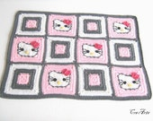Crochet Placemat Hello Kitty, Dinner Mats, Handmade Table Mat, Original Gift for Children