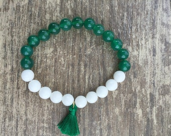 Boho Michigan State Bracelet