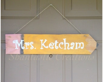 Personalized Pencil Wall/Door Sign