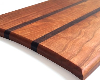 Wood Cutting Board, Contemporary Cherry Walnut Cutting Board