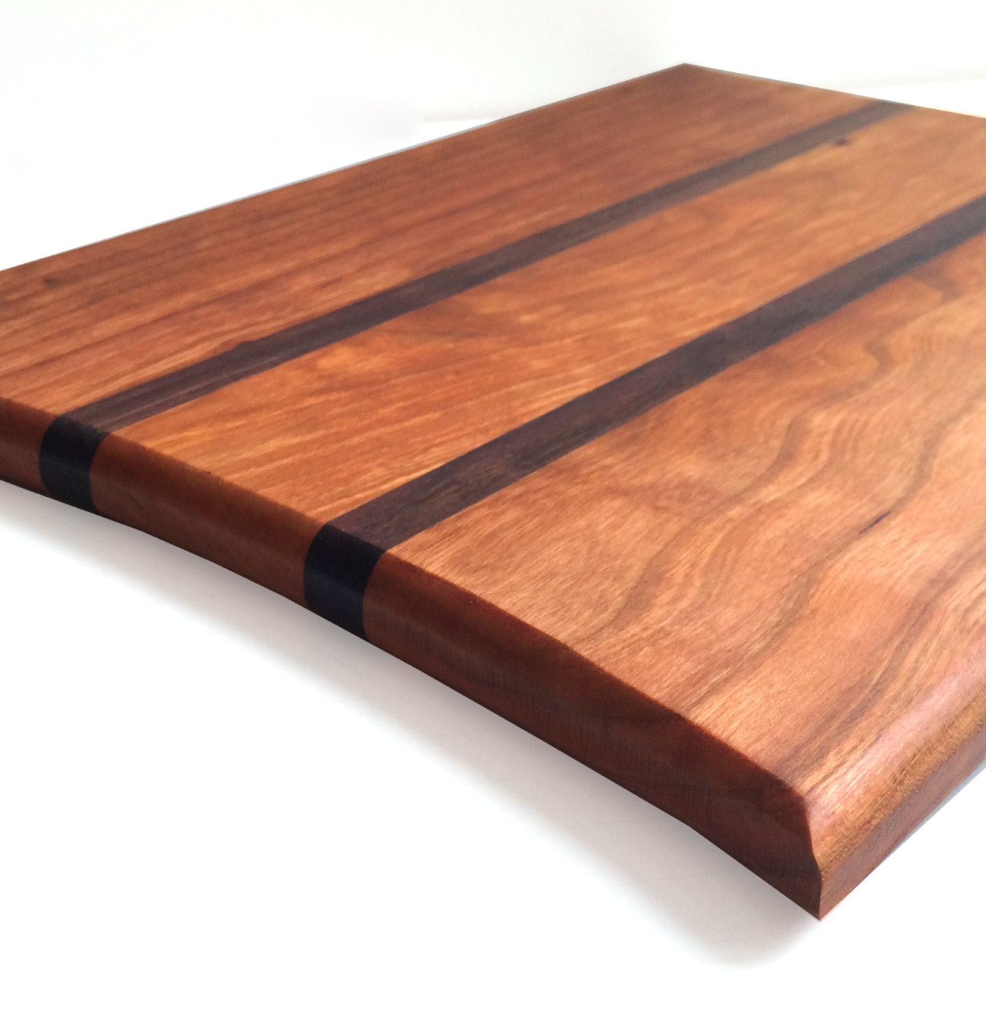 Wood Cutting Board Contemporary Cherry Walnut Cutting Board