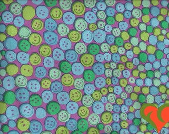 SALE. Kaffe Fassett for Westminster Rowan. Buttons Green Fabric GP101. Fat Quarter or more. Retired. Extremely Rare.