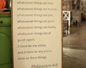 Philippians 4:8 Handpaint...