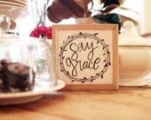 6x6 Say Grace Handwritten...