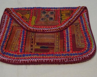 Vintage Banjara Clutch Bag Purse Boho Ethnic Tribal Gypsy India
