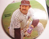 "1978 3"" Color Thurman Munson Button Pinback"