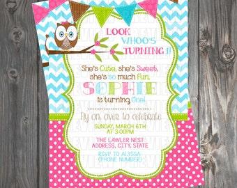Owl Invitation