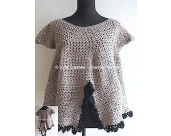 Xyra PATR1071-Crochet-pattern-Summer shirt/top/crochet pattern-summer shirt/top (Dutch & English-US)