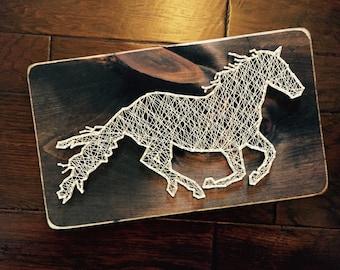 Running Horse String Art (Medium)