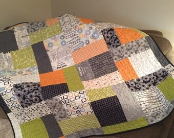 """Reel Time, Modern Quilt 67"""" x 84"""" LIMITED TIME PRICE"""
