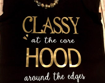 FREE SHIPPING!! Classy at the Core; Datenight Tee; Bougie
