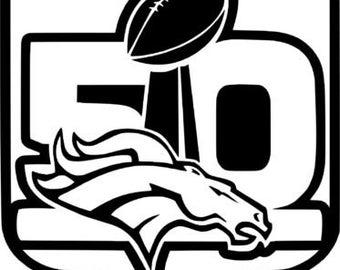 DENVER BRONCOS Super Bowl 50 - Car, truck, decal, sticker, vinyl, window
