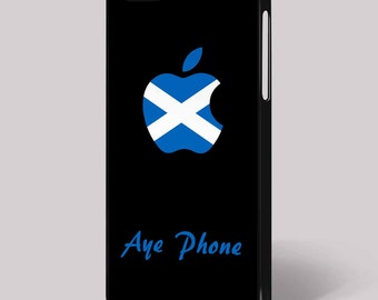 Scottish Humour Aye Phone Funny Quirky Mobile Cell iPhone Cover 4/4S 5/5S 5C 6 6 Plus Phone Case Black Background Samsung HTC Nokia