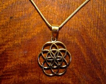 Seed of Life Medium Size Pendant, Sacred Geometry