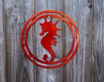 Seahorse Wall Hanging (Steel)