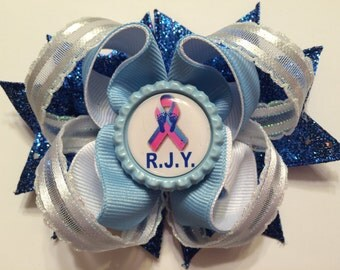 Miscarriage Awareness Hair Bow