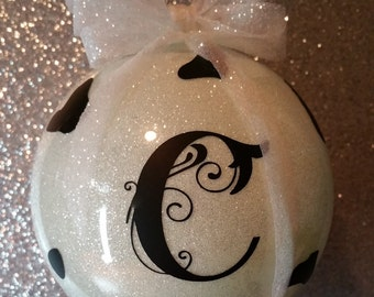 Moo Cow Christmas Personalized Ornament