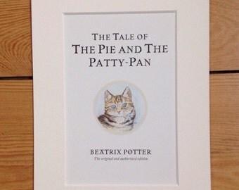 Beatrix Potter Mounted Postcard.