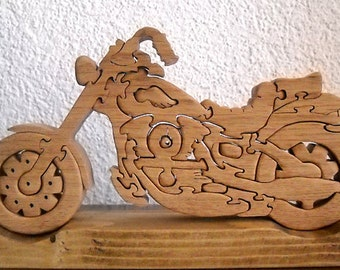 Wooden Motorcycle Puzzle Harley Edition