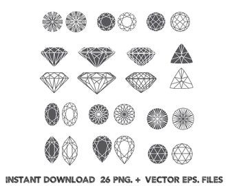 Diamonds  Silhouettes clipart, Clip Art,T shirt, iron on, sticker, Vectors files,Vectors files ,Personal Use