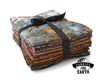Silver to Brass Batik 18 Fat Quarter Bundle - Quilting Fabric