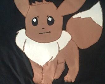 pokemon Go Eevee appliqued tshirt