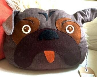Bulldog, # favorite pillow, #Kissen, #Kinderkissen, #Hund, #Dekokissen,# motif pillow, #Kinderzimmerrzimmer#, couch cushion, Hingucker#Tweed#,.