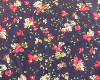 Vintage Robert Kaufman Co. Leaf Pattern #1156 Fabric (6 yards)