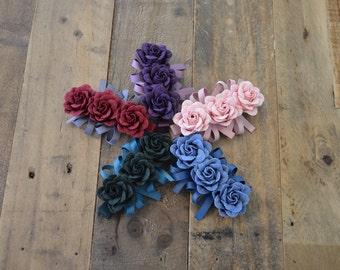 Flower hair clip, Rose hair clip, Girls hair clip, Fancy hair clip, Elegant hair clip, Flower and bow hair clip