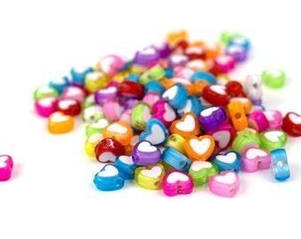 125 Electric Love Hearts Kandi Beads