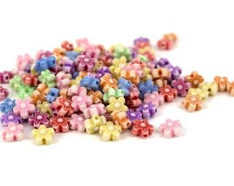 150 Faded Kandi Daisy Flowers Beads