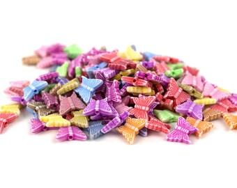 150 Faded Mysterious Butterflies Kandi Beads