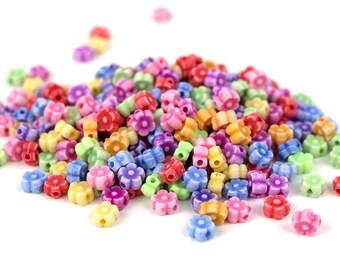 200 Faded Daisy Mini Flowers Kandi Beads