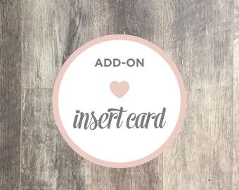 Add-on Listing   Insert Card