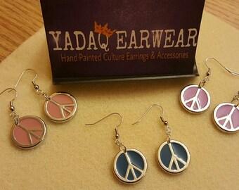 Peace/Love Earrings