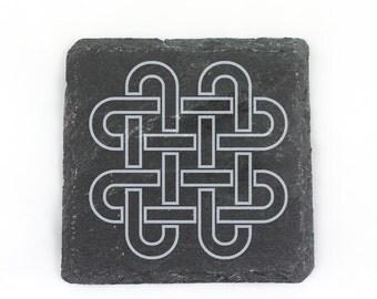 Slate Solomons Knot Coaster