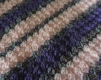 Purple/Pink Crochet Baby Corner-to-Corner Afghan