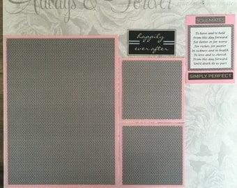 "Wedding 12x12"" Scrapbook Page"