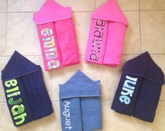 Personalized Hooded Towel, Custom Hooded Towel, Kids Hooded Towel, Personalized Towel, Embroidered Hooded Towel