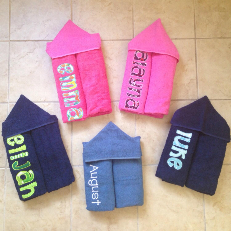 Personalized Hooded Towel Custom Hooded Towel Kids Hooded