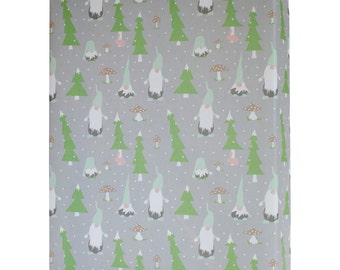 Christmas Gnomes Gift Wrap - 3 Flat Sheets // Scandinavian Christmas // Holiday Wrapping Paper // Tomte Gnome WS1108