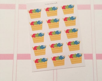 Laundry Basket Planner Stickers
