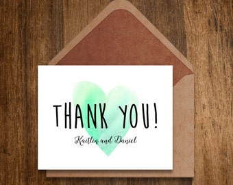 Thank you card for Kaitlin and Daniel