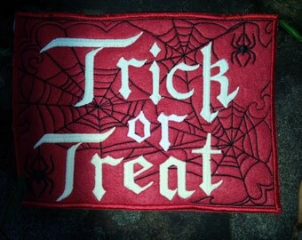 Trick or Treat SEW ON Patch