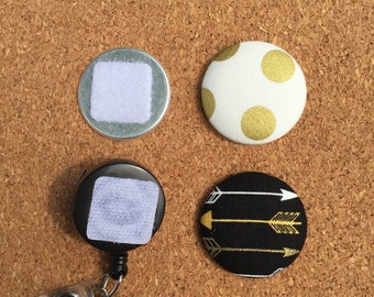Black and Gold  Badge Reel Set