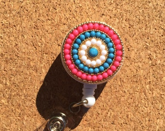 Colorful Bead  - Badge Reel